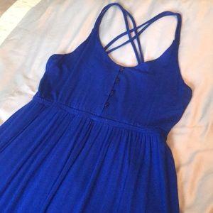 Cynthia Rowley blue maxi dress w/ crisscross back